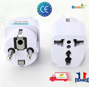 Adaptateur-Secteur-Prise-Plug-Anglaise-Secteur-Voyage-US-UK-AU-vers-UE-Europe