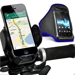 Quality-Bike-Bicycle-Handlebar-Phone-Holder-Sports-Armband-Case-Cover-Blue