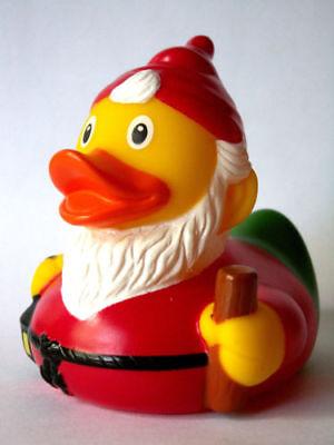 Märchenhafte Ente Mit Zipfelmütze Und Bart Klar Und GroßArtig In Der Art Klug Badeente Quietscheente Zwerg