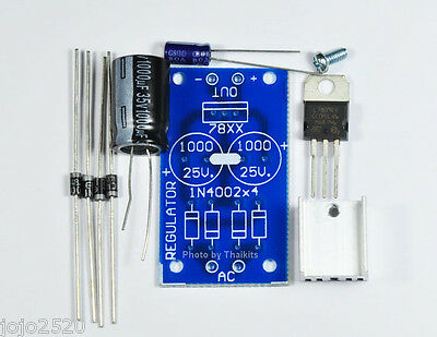 AC-DC Regulator Power Supply Module 0-30V 1A 24VAC INPUT UN-Assembled Kit  FK808