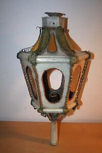 ANTIQUE-18th-TOLE-WARE-CANDLESTICK-LANTERN-VERY-RARE