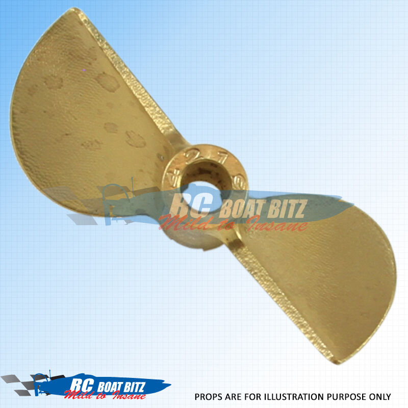 RC Boat Bronze CNC sharpened/balanced 2 blade prop 44mm 1.6p 4416