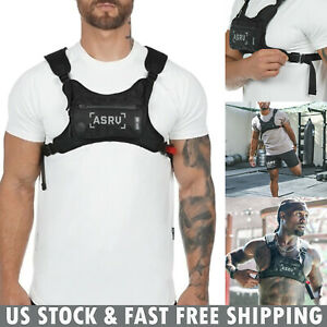 Mens-Women-Front-Chest-Rig-Bag-Waterproof-Hip-Hop-Streetwear-Sport-Shoulder-Pack
