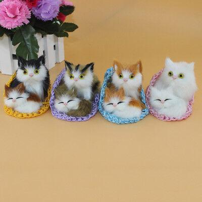 Kid Lifelike Toys Cute Plush Slipper Cat Soft Doll Simulation Sound Xmas Toy New