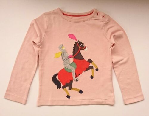 BIRD T-SHIRT AGES 2-14 EX-MINI BODEN GIRLS CUTE APPLIQUE JERSEY HORSE-FLOWER