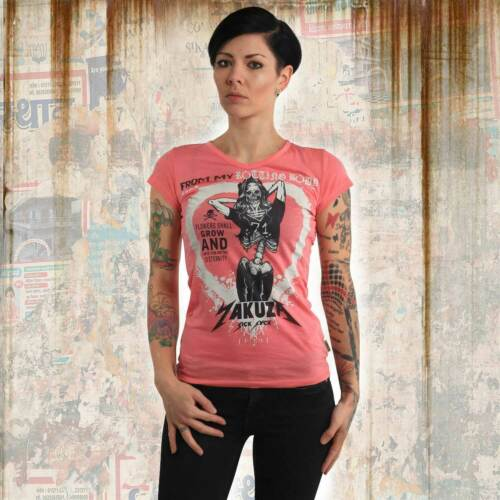 Camellia Rose Neues Yakuza Damen Rotting Body V-Neck T-Shirt