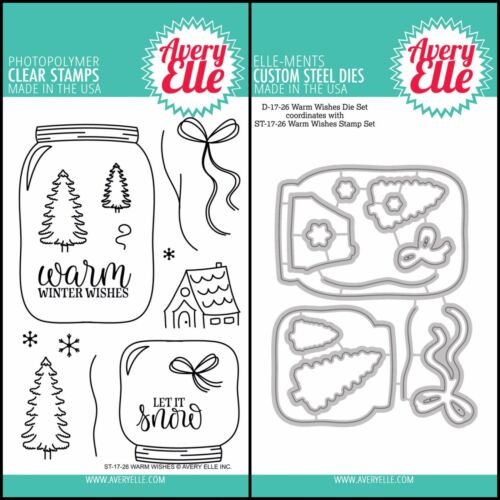 """Avery Elle /""""WARM WISHES/"""" Clear Stamps Only OR Clear Stamp and Die Bundle"""