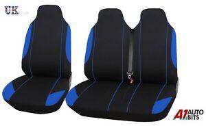 Master 2+1 schwarz Komfort Stoff Sitzabdeckung für Renault Trafic blau