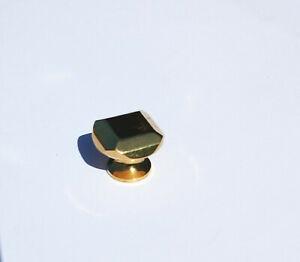 Tuerknopf-Tuerknauf-Moebelknopf-Knauf-Griff-mit-Schraube-Metall-gelbes-kupfer