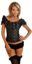 NEW Daisy Corsets Women's Embroidered Peasant Top Corset/Sexy Lingerie X-Large