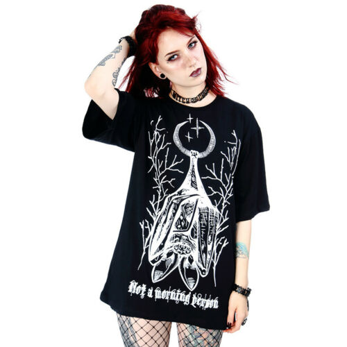 Restyle witchy Not A Morning Person Unisex T-Shirt // goth occult bats