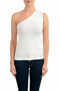 Maison-Margiela-1-White-One-Shoulder-Women-039-s-Blouse-Top-US-XS-IT-38