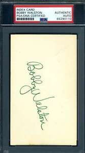 Bobby Walston PSA DNA Coa Autograph Hand Signed 3x5 Index Card