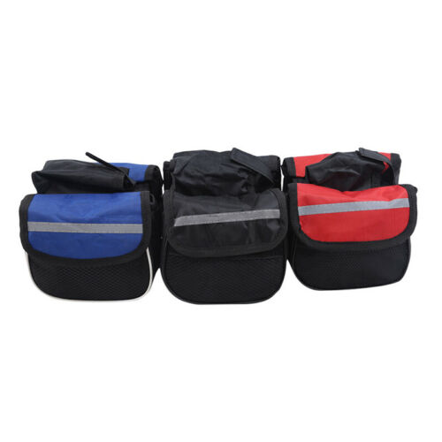 Bicycle Bag Front Tube Frame Phone Waterproof Bike Bags Pouch Frame Accessory KV