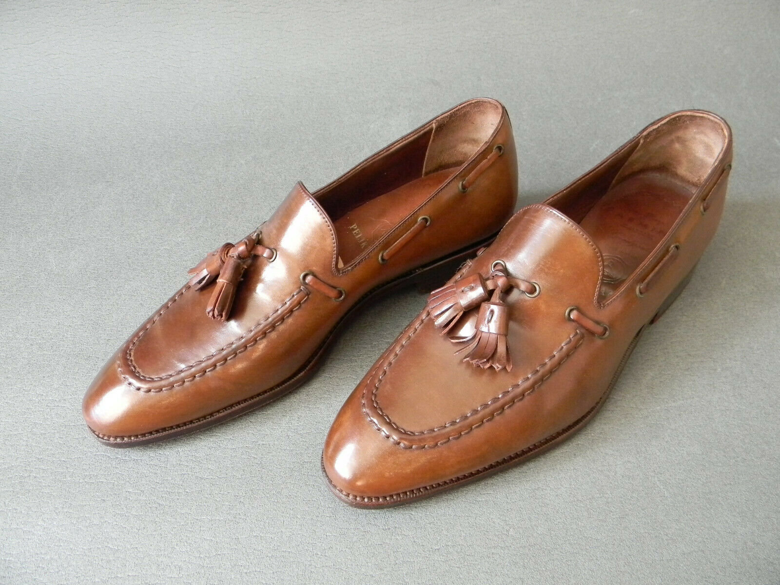 voituremina Bourbon SHELL CORDOVAN Tassel Loafers Homme Chaussures 5.5UK 39.5EU 6.5US