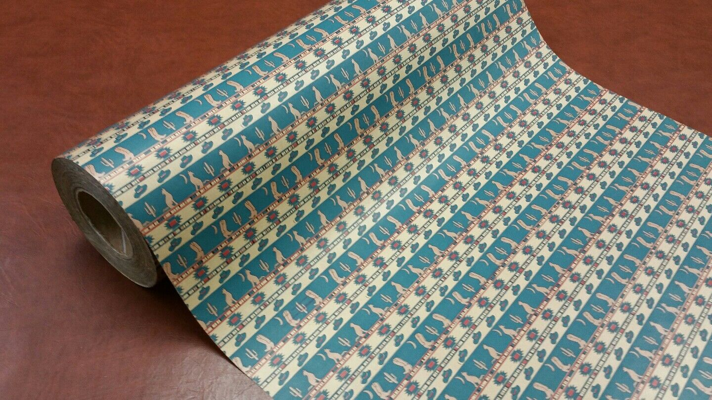 Half ream 26 inch wide cowboy Stiefel and coyote gift wrap 417 feet