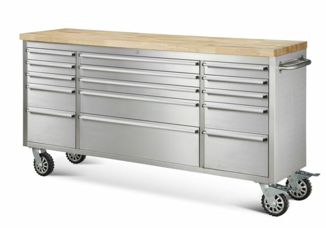 "Mechanics 8 Drawer Tool Box Chest Roller Cabinet: 72"" Thor Tool Chest Storage Cabinet - HTC7215W"