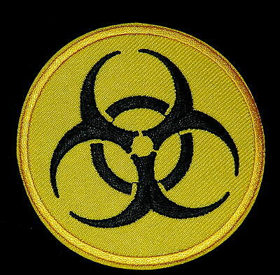 Warning Biohazard Danger Nuclear Iron on Sew Embroidered Badge Patch Sewing Sign