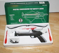Pistol Crossbow 25 Lb 4 Bolts / Arrows With Safety Lock