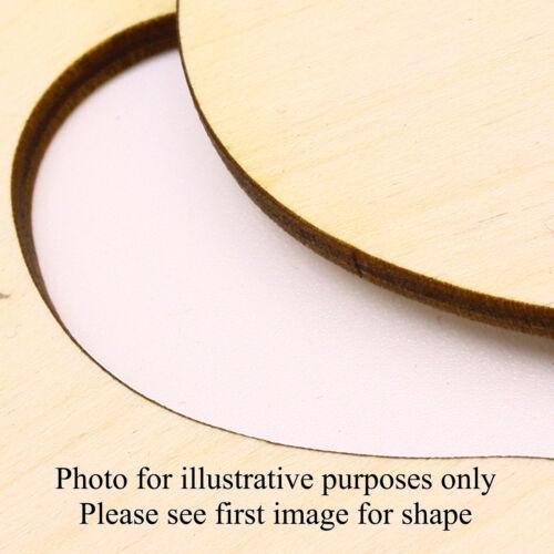 5 Craft Blanks MDF Ply Hessian Heart 02 Top /& Bottom Holes Denim Canvas