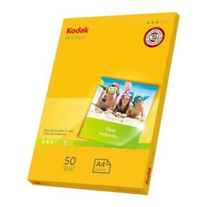 50 Sheets A4 Kodak Inkjet Photo Paper A4 Photo Glossy 180gsm for Epson Canon etc