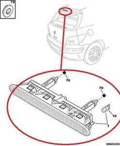 Nuevo-Genuino-Freno-Trasero-3rd-de-alto-nivel-luz-de-parada-PEUGEOT-307-Hatchback-6350P5
