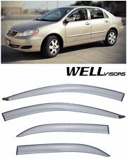 Well Visors Aerodyn Series Side Window Visors Deflector For 03-08 Toyota Corolla