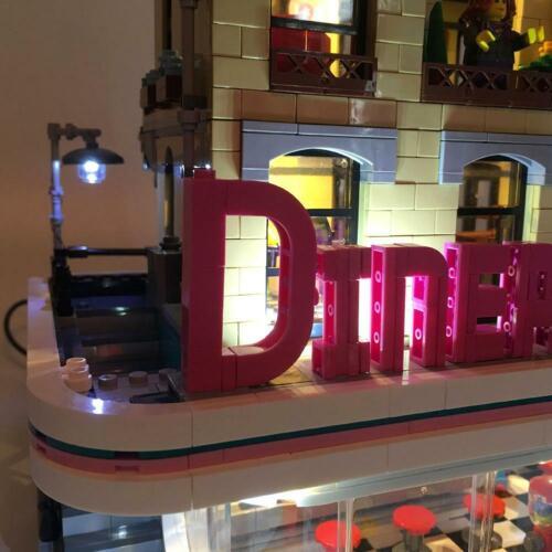 Diner Light Toys Building Lego Bricks LED 10260 Lighting Kit ONLY Downtown YN3B