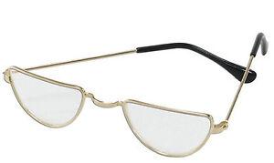 2de9d6d796a9 Half Moon Gold Glasses Specs Santa Father Christmas Old Man Granny ...