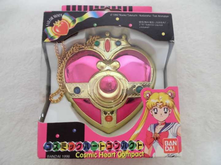 BANDAI 1994 MADE IN JAPAN Sailor Moon Cosmic Heart Compact Box from JP F S