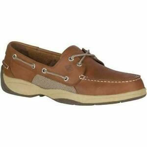 SAVE-Sperry-Men-039-s-Intrepid-Top-Sider-Tan-Leather-Casual-Boat-Shoes-PICK-SIZE
