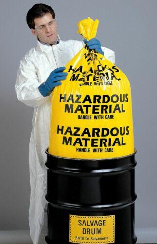 HAZARDOUS MATERIAL BIOHAZARD BAGS X-LG 38X65 6 MIL HEAVY DUTY BARREL 25 BAG CASE