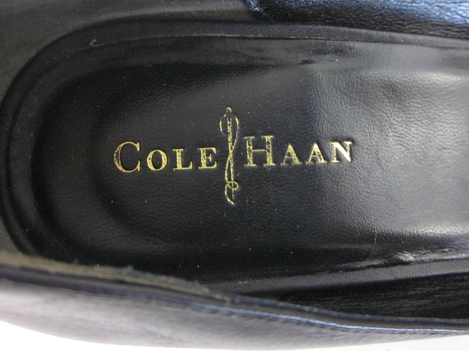 Cole Haan 'Air Talia Wedge' Round Toe Pumps Pumps Pumps Black Leather US 8B   MSRP  198 83ef2b