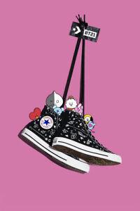 bts chaussure converse