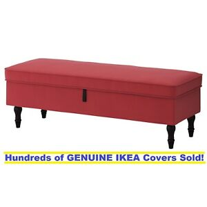 Image Is Loading Ikea Stocksund Bench Footstool Cover Slipcover Ljungen Light