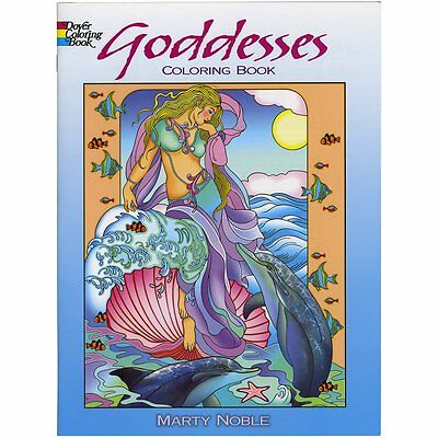 Goddesses Coloring Book (Dover Coloring Books) by Marty Noble (Paperback) NEW