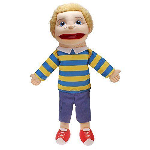 The Puppet Company Medium Sized Puppet Buddies Boy Hand Puppet - Light Skin Tone