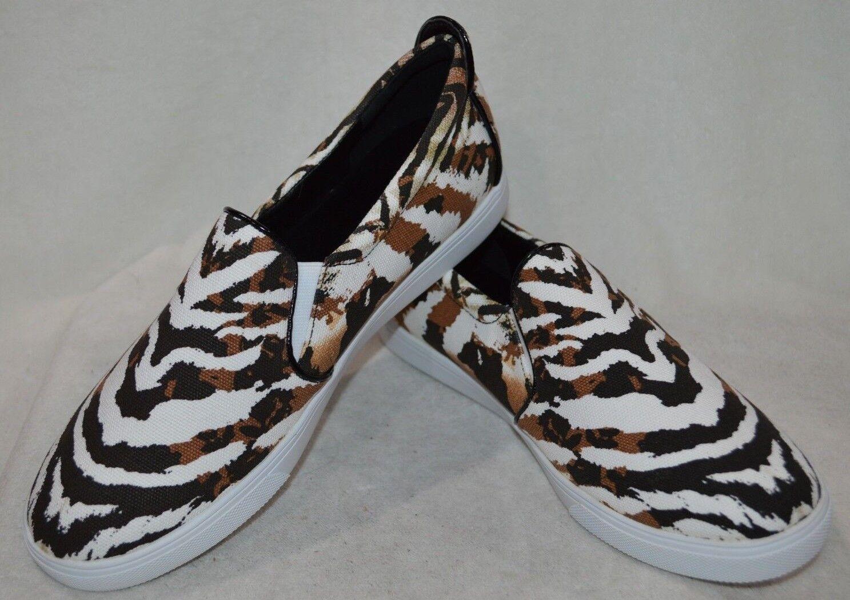 Nine West femmesl's BLAINEO marron Multi Canvas Slip On baskets - Taille 10 NWB