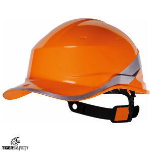 Delta Plus Orange Baseball Diamant V Harter Hut Helme Stoss Kappe