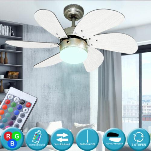 RGB LED Beleuchtung Decken Ventilator Wohn Raum Kühler Lüfter Living-XXL