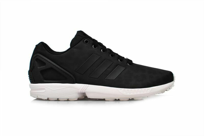 Womens Adidas ZX Flux - B24385 - Black White Trainers Great discount