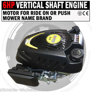 NEW-6HP-Vertical-Shaft-Engine-Motor-For-Ride-On-Or-Push-Mower-Name-Brand