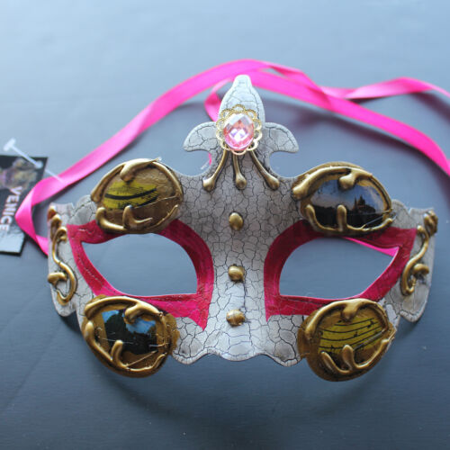 Hot Pink Venetian Masquerade Mask Party Prom Wedding Halloween Costume