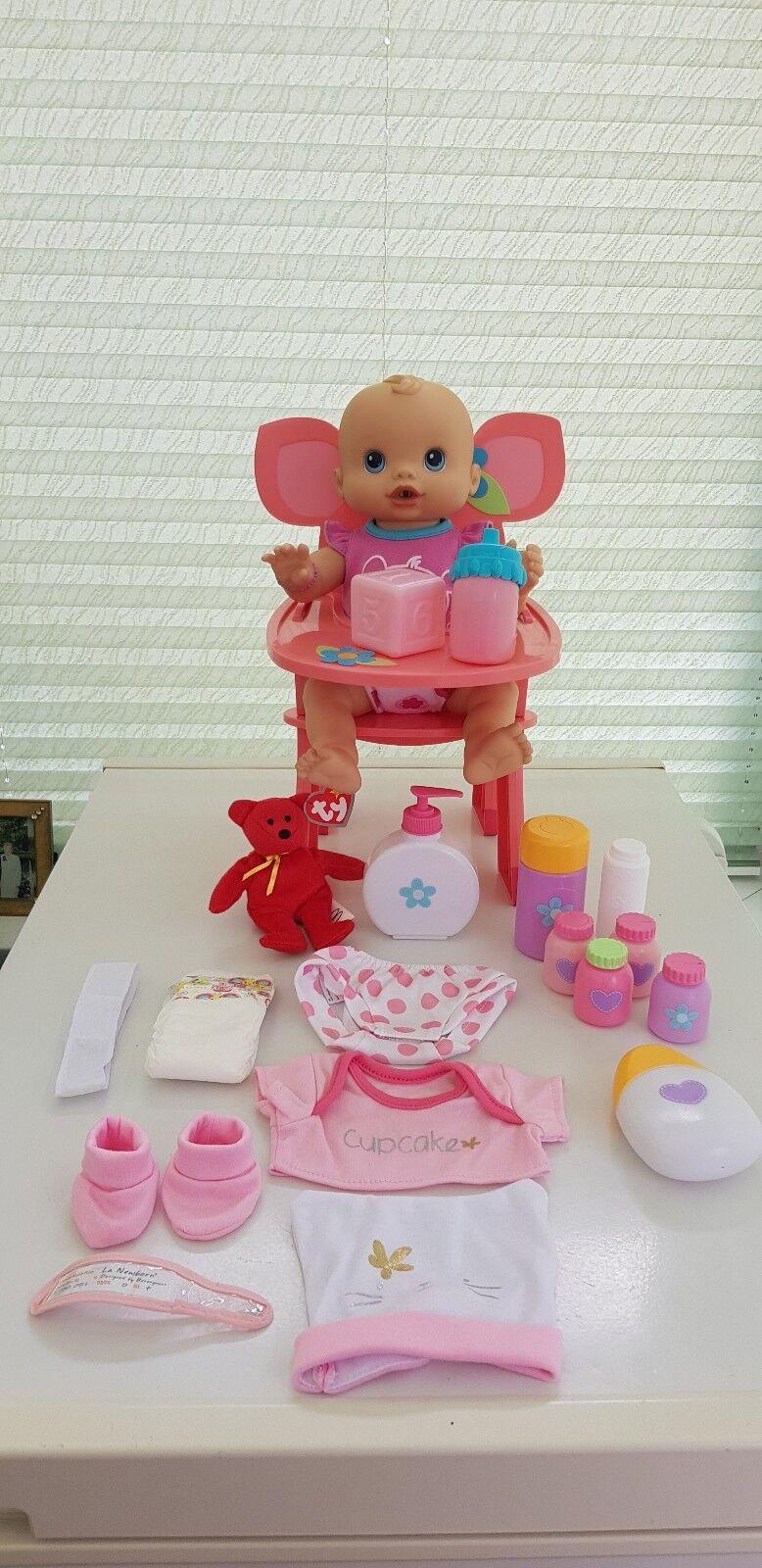Hasbro Rare Baby Alive Whoopsie Doo 2006 Doll  Bundle