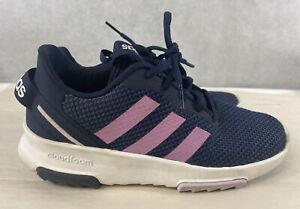 Details about Adidas Cloudfoam Shoes Youth Size 4 Purple & Blue SMA 23M001