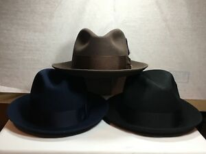 a8adf7a6c8c2c New with Tag Stetson Frederick Pure Wool Men s Hat Brim 2   MADE IN ...