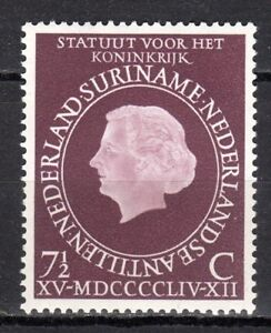"Suriname - 1954 Statute for the Kingdom Mi. 351 MNH - Enschede, Nederland - Click the button below to view more Suriname lots from our extensive offerings. After clicking select ""Suriname"" in the blue side-bar on the left. Combine up to 10 lots for single postage rate and keep in mind: orders above € 25 FR - Enschede, Nederland"