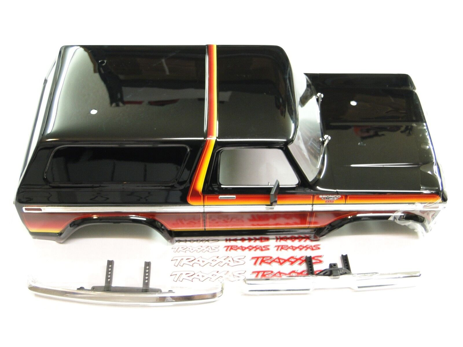 NEW TRAXXAS TRX-4 BRONCO Body FORD RANGER XLT Painted SUNSET Chrome Bumpers RV3S