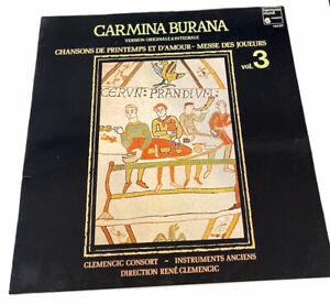 Clemencic Consort - Carmina Burana Volume 3 (Vinyl LP NM Gatefold)