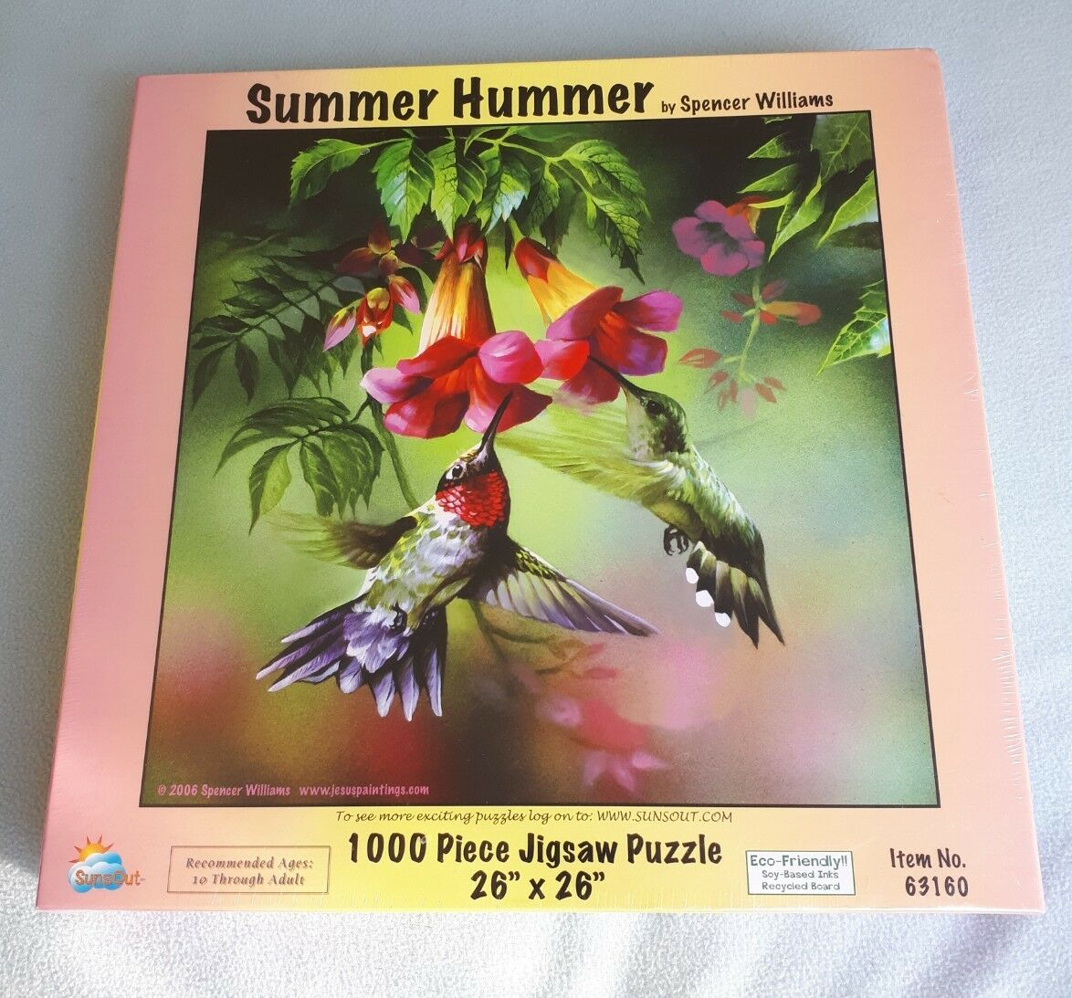 SUMMER HUMMER 1000 PIECE JIGSAW PUZZLE. SUNS OUT SPENCER WILLIAMS ECO FRIENDLY